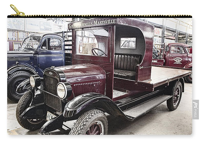 Vintage Carry-all Pouch featuring the photograph Vintage Chevrolet Pickup Truck by Douglas Barnard