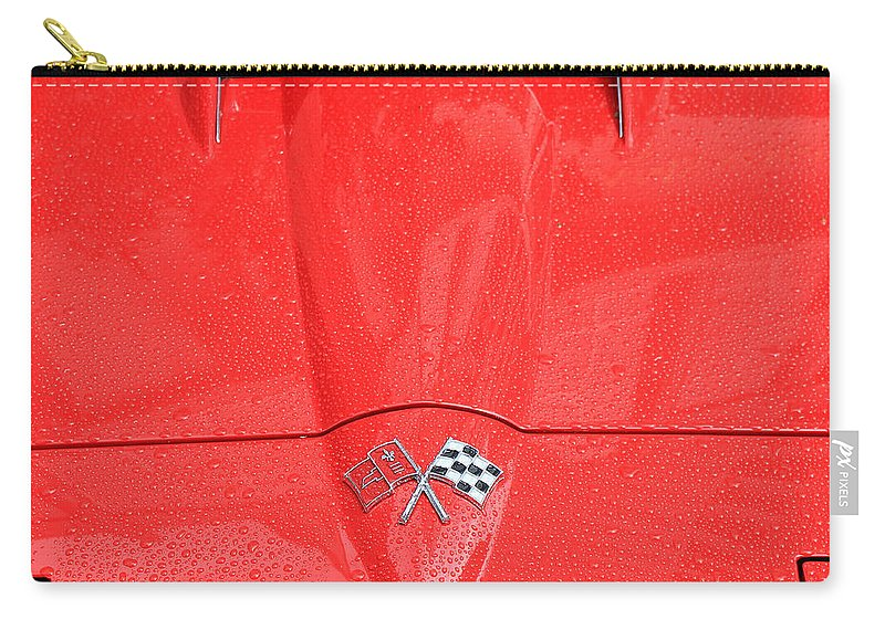 Corvette Carry-all Pouch featuring the photograph Vintage Corvette 5 by Andrew Fare