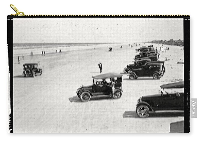 Vintage Carry-all Pouch featuring the photograph Vintage Daytona Beach Florida by Edward Fielding