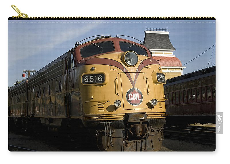 Train Photographs Photographs Carry-all Pouch featuring the photograph Vintage Diesel Locomotive by John Clark