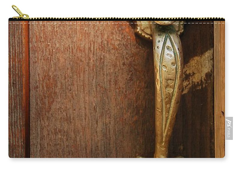 Carry-all Pouch featuring the photograph Vintage Door Handle by Patrick Shupert