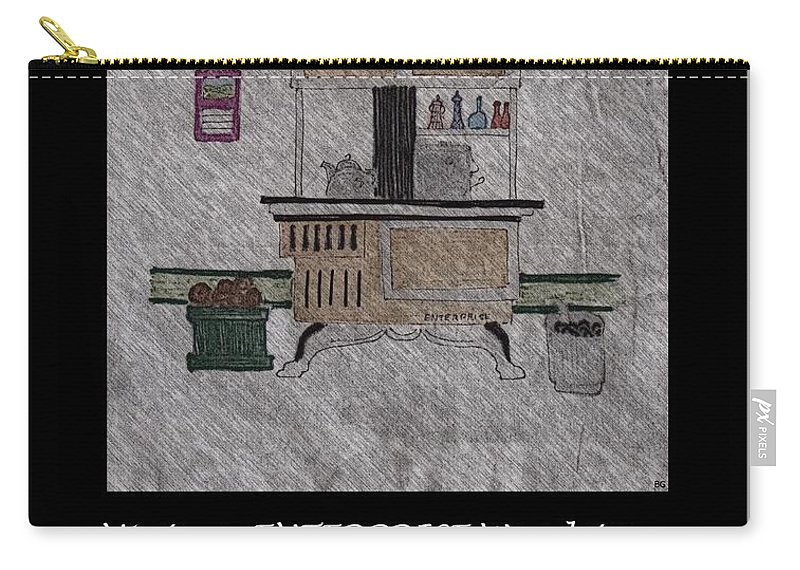 Vintage Enterprise Woodstove Carry-all Pouch featuring the photograph Vintage Enterprise Woodstove by Barbara Griffin