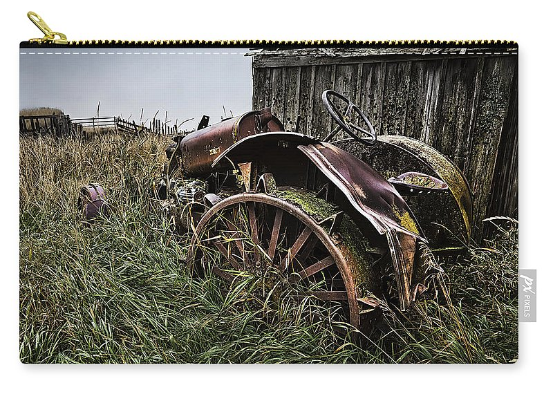 Massey Ferguson Carry-all Pouch featuring the photograph Vintage Farm Tractor Color by Theresa Tahara