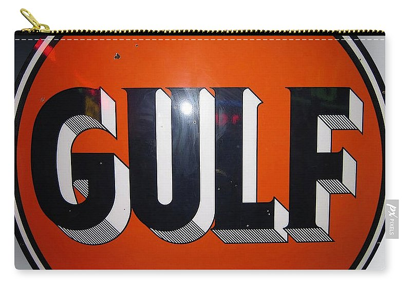 Vintage Gulf Garage Sign Carry-all Pouch