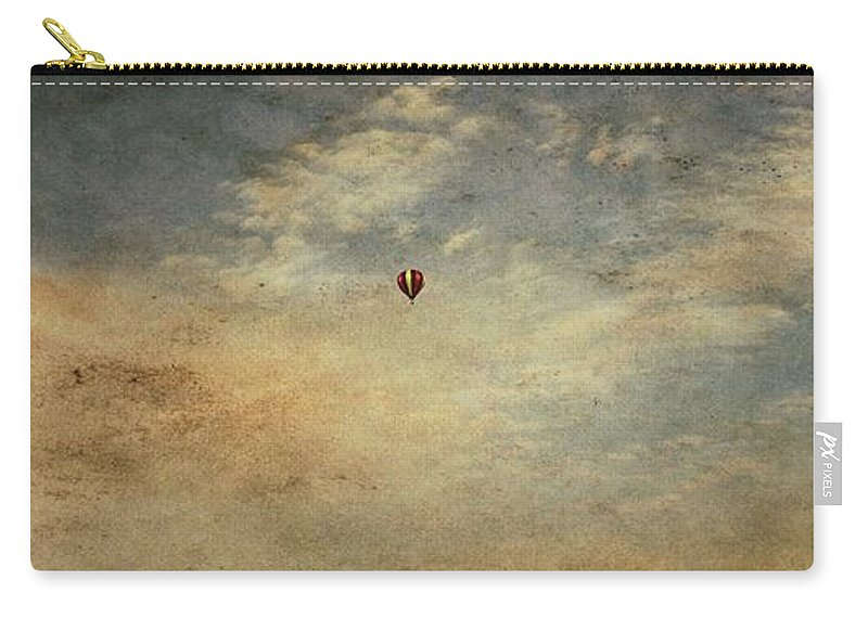 Vintage Hot Air Balloons Carry-all Pouch featuring the photograph Vintage Hot Air Balloons by Dan Sproul