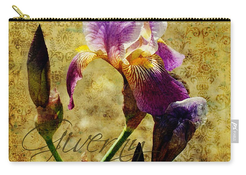 Iris Carry-all Pouch featuring the photograph Vintage Iris by Carla Parris