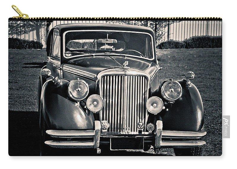 Retro Carry-all Pouch featuring the photograph Vintage Jaguar 1950s by Eti Reid