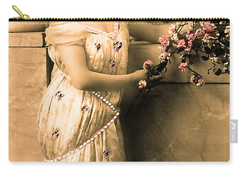 Vintage Carry-all Pouch featuring the photograph Vintage Lady I by Lesa Fine