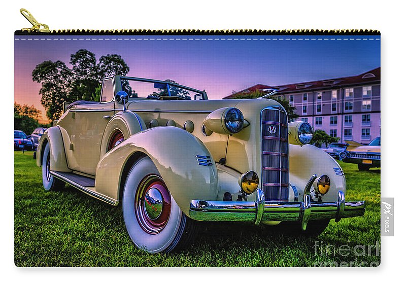 2014 Carry-all Pouch featuring the photograph Vintage Lasalle Convertible by Edward Fielding