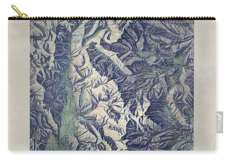 Vintage Map Of Rocky Mountain National Park - 1914 Carry-all Pouch