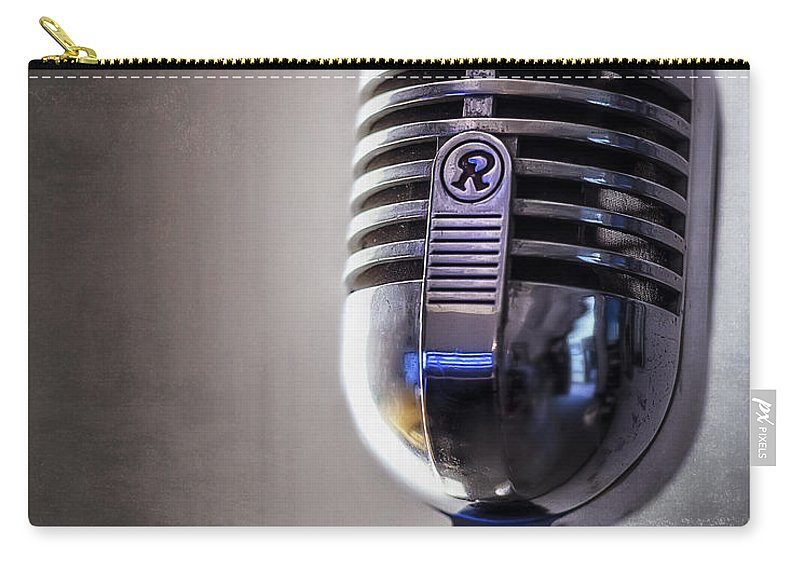 Mic Carry-all Pouch featuring the photograph Vintage Microphone 2 by Scott Norris