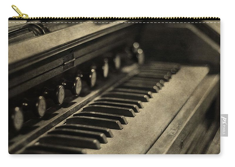 Vintage Piano Carry-all Pouch featuring the photograph Vintage Piano by Dan Sproul