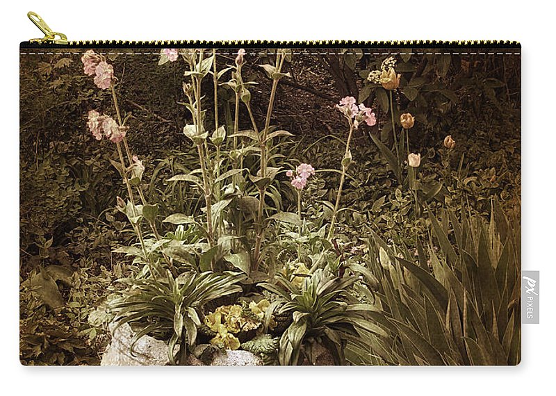 Planter Carry-all Pouch featuring the photograph Vintage Planter by Jessica Jenney