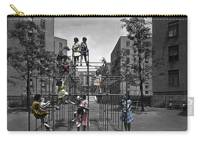 Playground Carry-all Pouch featuring the photograph Vintage Playground by Andrew Fare