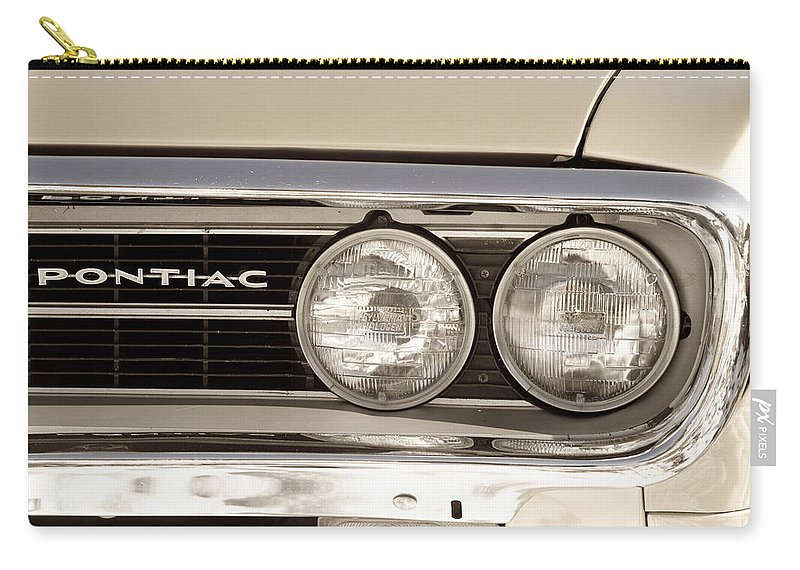 Automobiles Carry-all Pouch featuring the photograph Vintage Pontiac Firebird 1967 Close Up by James BO Insogna