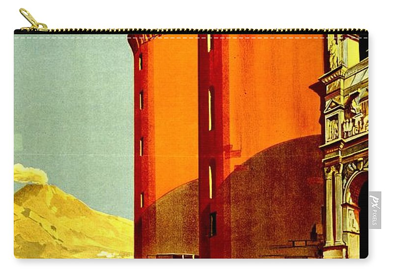 Italy Carry-all Pouch featuring the photograph Vintage Poster - Napoli by Benjamin Yeager