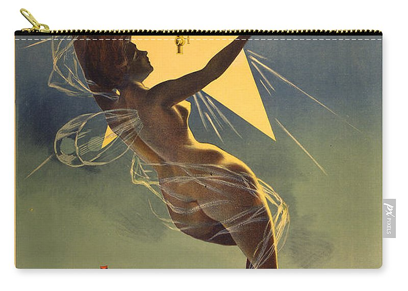 Vintage Advertising Poster Carry-all Pouch featuring the photograph Vintage Poster 1 by Andrew Fare