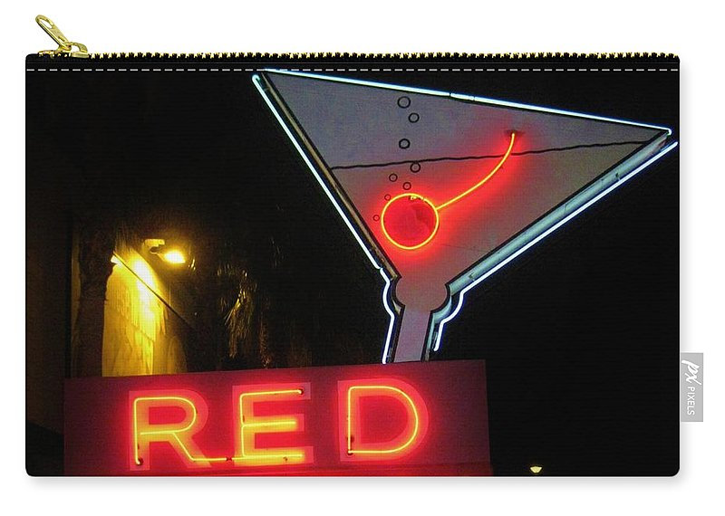 Las Vegas Carry-all Pouch featuring the photograph Vintage Red Barn Neon Sign Las Vegas by John Malone