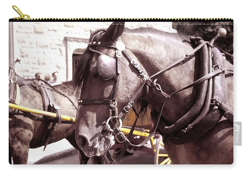 Horse Carry-all Pouch featuring the photograph Vintage Ride by JAMART Photography