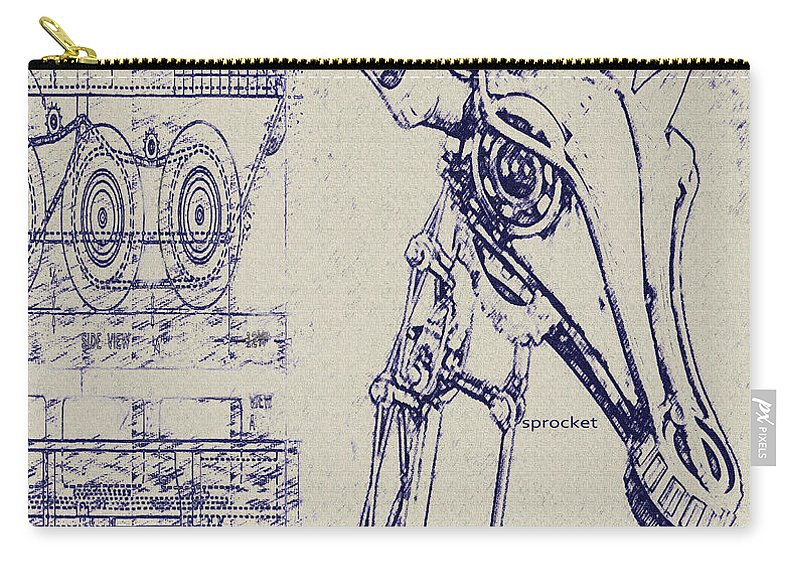Vintage robot giraffe blueprint carry all pouch for sale by jane steampunk carry all pouch featuring the digital art vintage robot giraffe blueprint by jane schnetlage malvernweather Images