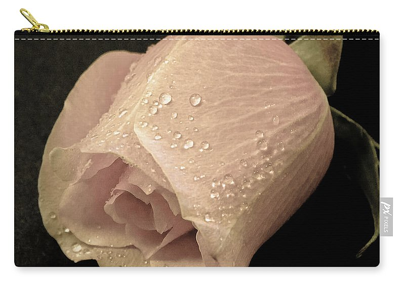 Rose Carry-all Pouch featuring the photograph Vintage Rose by Athena Mckinzie