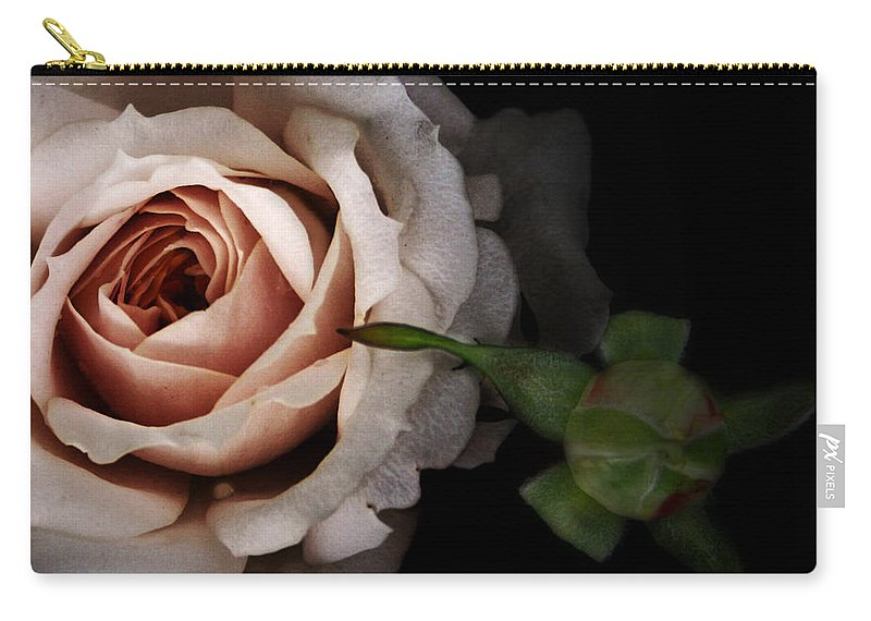 Rose Carry-all Pouch featuring the photograph Vintage Rose by Susan McMenamin