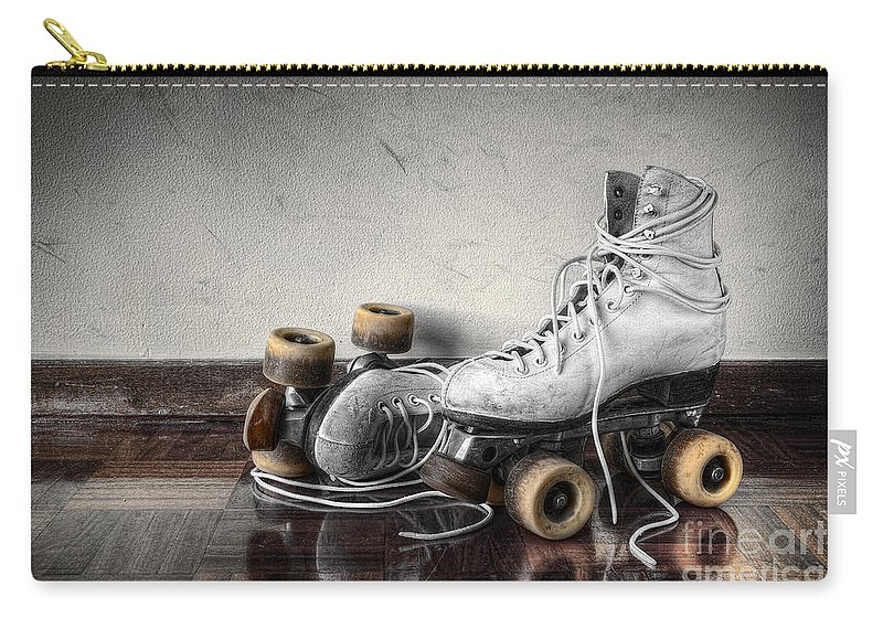 Active Carry-all Pouch featuring the photograph Vintage Skates by Carlos Caetano