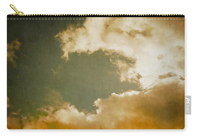 Retro Carry-all Pouch featuring the digital art Vintage Sky by Steve Ball