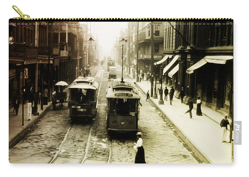 Vintage Carry-all Pouch featuring the photograph Vintage St Charles Street - New Orleans by Bill Cannon