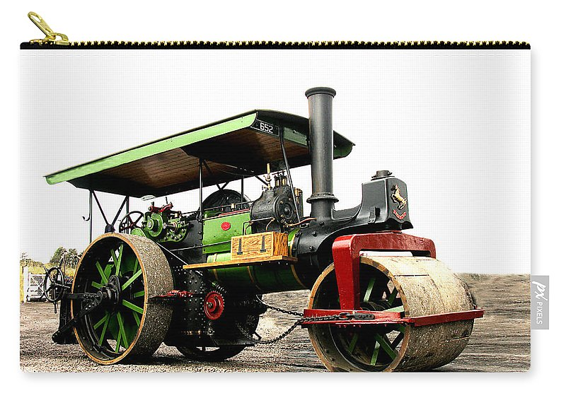 Steam Carry-all Pouch featuring the photograph Vintage Steam Roller by Tom Conway