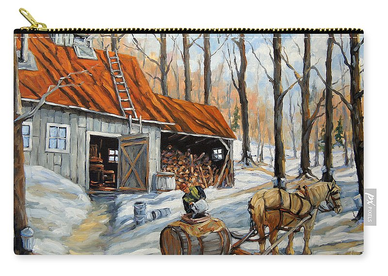 Landscape Carry-all Pouch featuring the painting Vintage Sugar Shack By Prankearts by Richard T Pranke
