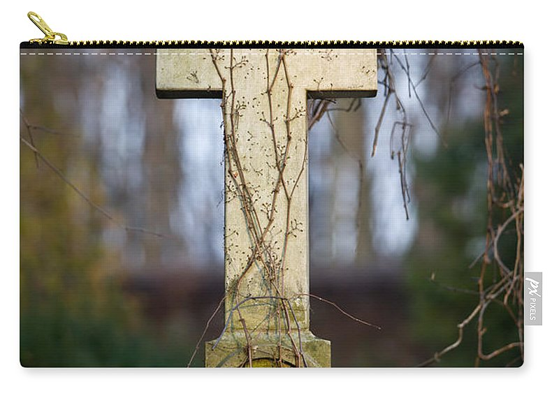 Cross Carry-all Pouch featuring the photograph Vintage Tombstone Cross by Artur Bogacki