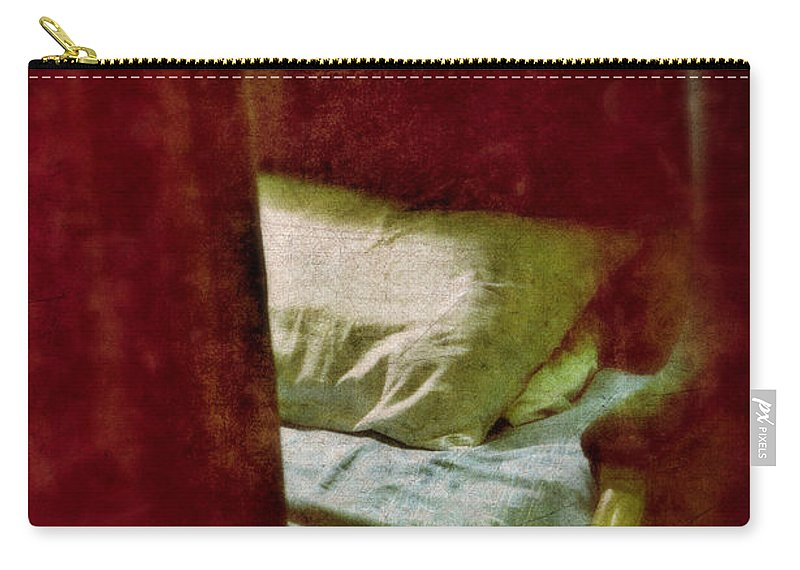 Train Carry-all Pouch featuring the photograph Vintage Train Bed by Jill Battaglia