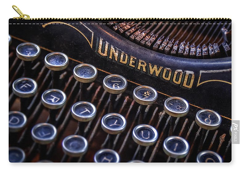 Retro Carry-all Pouch featuring the photograph Vintage Typewriter 2 by Scott Norris