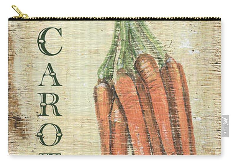 Kitchen Carry-all Pouch featuring the painting Vintage Vegetables 4 by Debbie DeWitt
