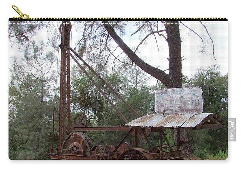 Well Driller Carry-all Pouch featuring the photograph Vintage Well Driller 2 by Mary Deal