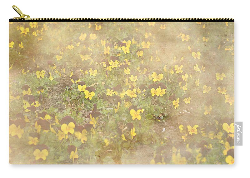 Beige Carry-all Pouch featuring the photograph Viola Field by Pati Photography