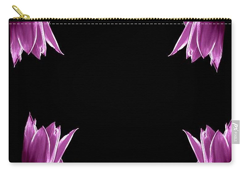 Florals Carry-all Pouch featuring the photograph Violet Bells by Diana Angstadt