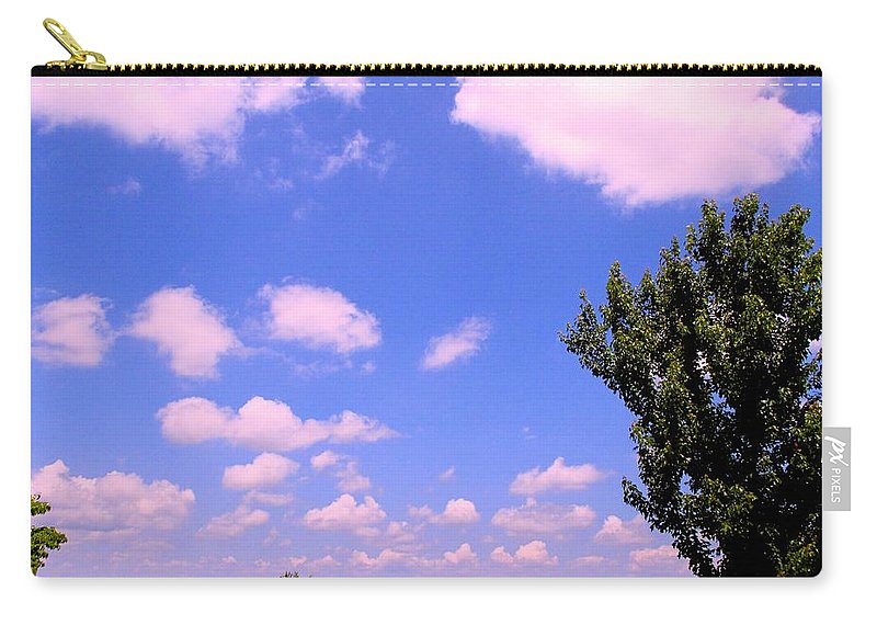 Clouds Carry-all Pouch featuring the photograph Violet Edge by Kendall Kessler