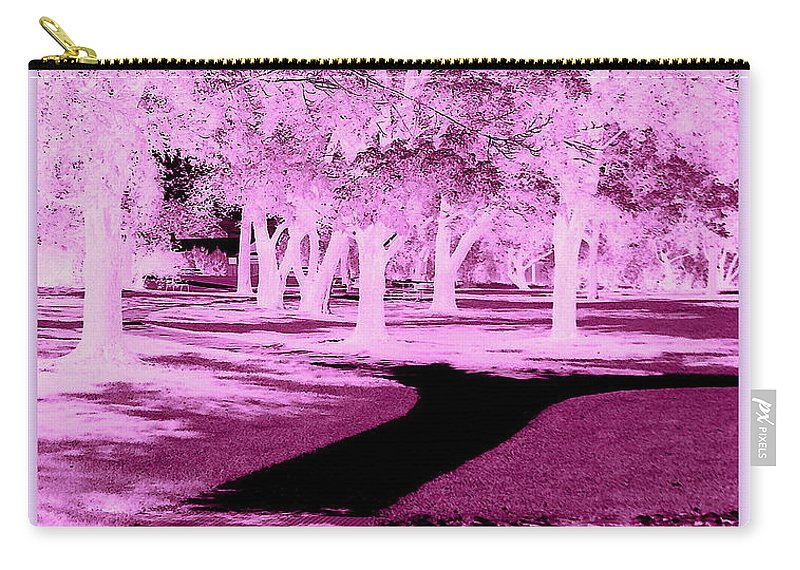Illusion Carry-all Pouch featuring the photograph Violet Illusion by Bobbee Rickard