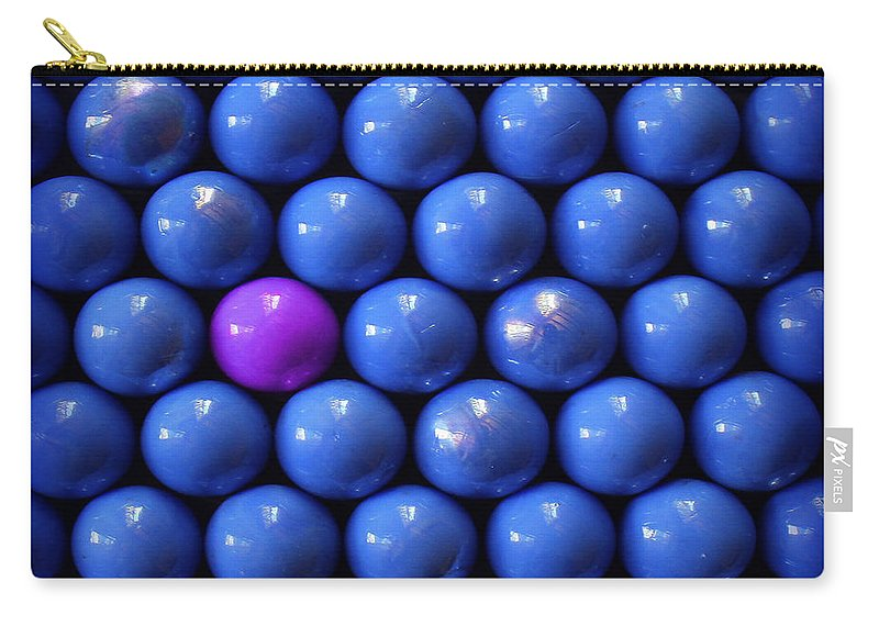 Blue Carry-all Pouch featuring the photograph Violet Lost In Blue by Danuta Bennett