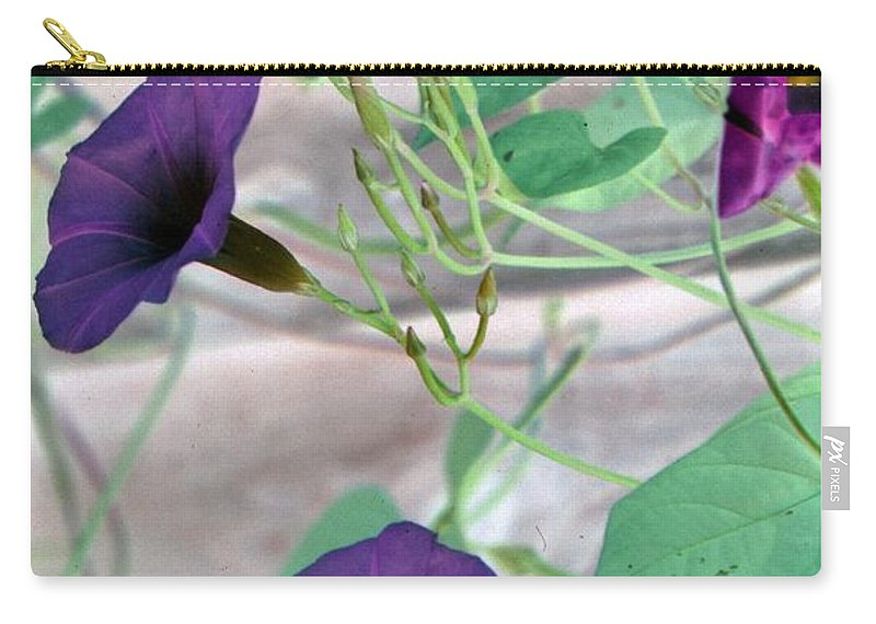 Flower Carry-all Pouch featuring the photograph Violet Vine - Photopower 326 by Pamela Critchlow