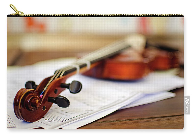 Sheet Music Carry-all Pouch featuring the photograph Violin by Ana Guisado Photography