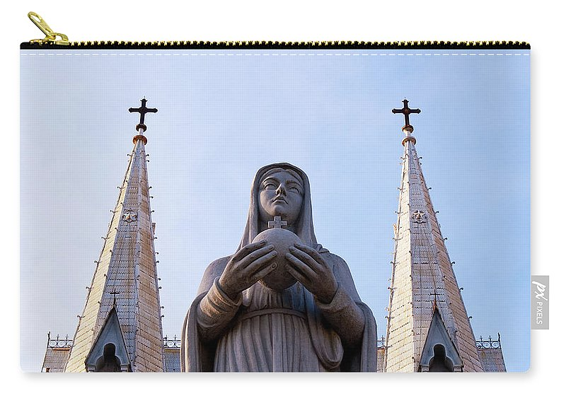 Virgin Carry-all Pouch featuring the photograph Virgin Mary by Rick Piper Photography
