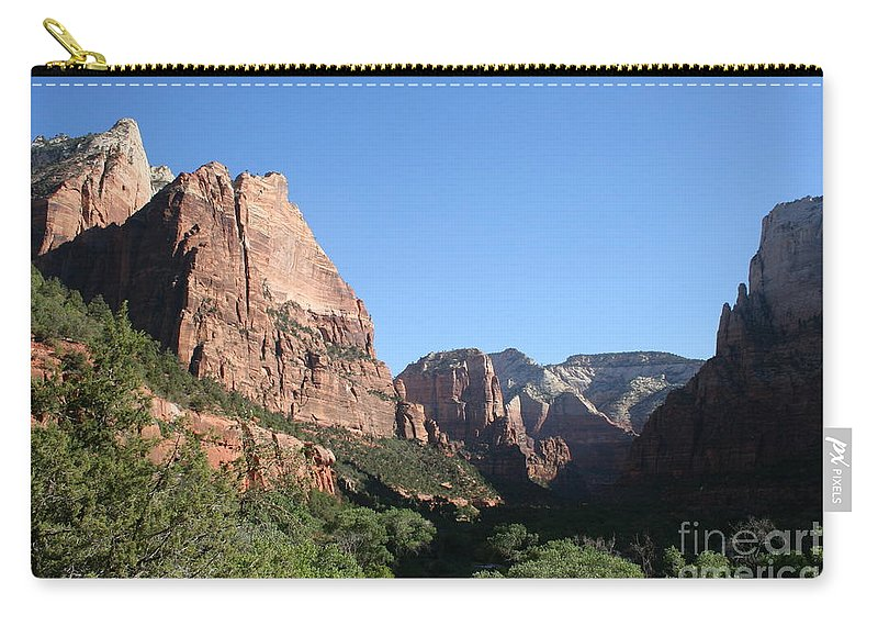 Mountians Carry-all Pouch featuring the photograph Virgin River View by Christiane Schulze Art And Photography