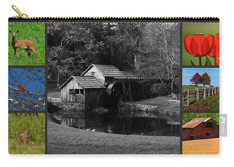 Collage Carry-all Pouch featuring the mixed media Virginia Artist by Eric Liller