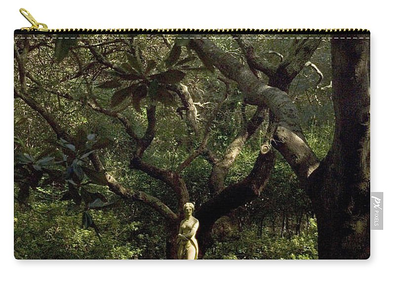 North Carolina Carry-all Pouch featuring the photograph Virginia Dare Statue by Greg Reed