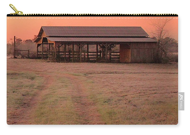 Barn Carry-all Pouch featuring the photograph Visiting The Farm by Karen Beasley