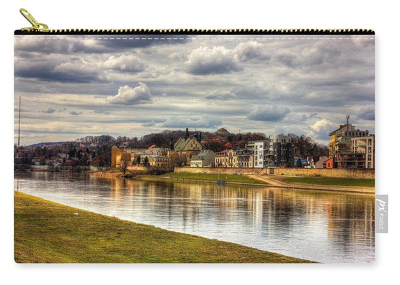 River Carry-all Pouch featuring the photograph Vistula River In Cracow by Pati Photography