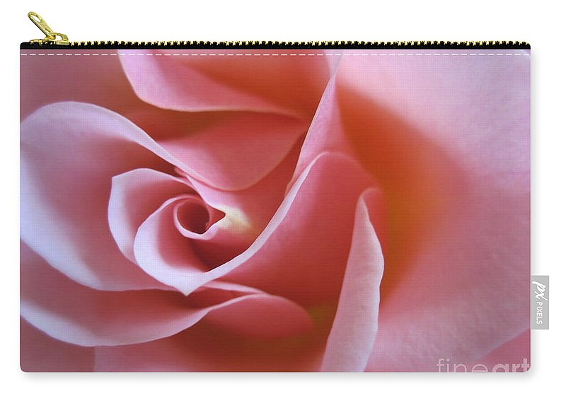 Floral Carry-all Pouch featuring the photograph Vivacious Pink Rose 2 by Tara Shalton
